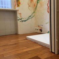 Restauro-Massello-Doussiè-listelli-carteggiati-levigati-lucidati-bagno
